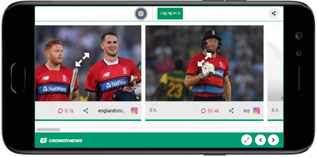 branding opportunity ICC horizontal widget
