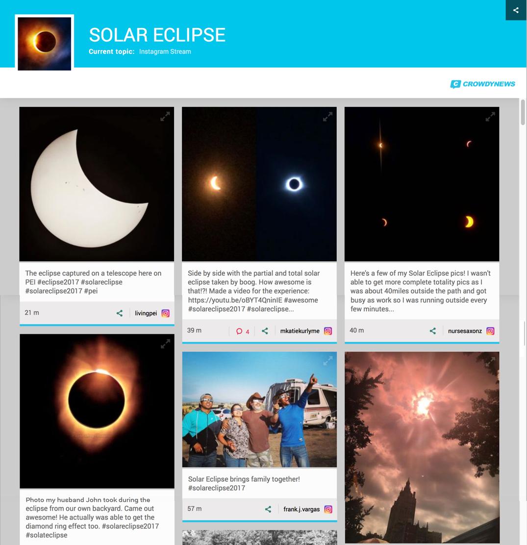 solar ecliipse widget